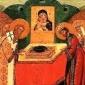 Полагањето на ризата на Пресвета Богородица во Влахернската црква во Цариград
