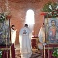 Првото литургиско заедничарење и осветување на куполните Крстови и црковното  Ѕвоно во Населба Рача- Охрид